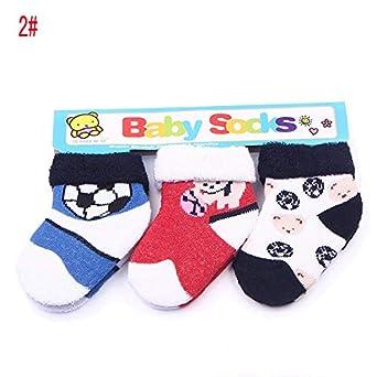 AODEW Baby Socks Infant Non-Slip Floor Sock 3 Pairs for Toddler Kids 0-12 Months