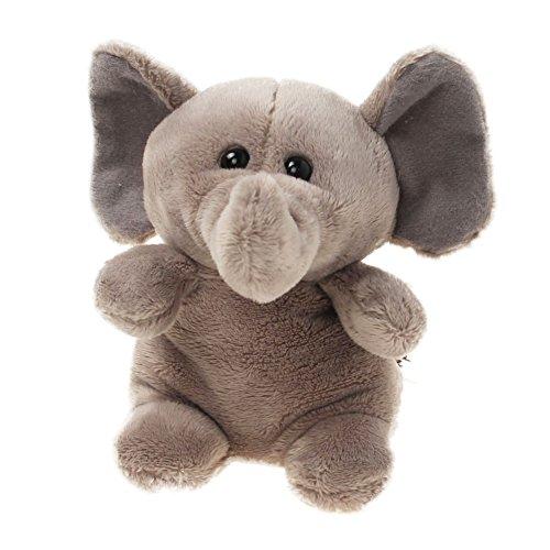 Tiktoy Elephant Stuffed Animals Plush Toy - Measures 4.7 Inches - Gray