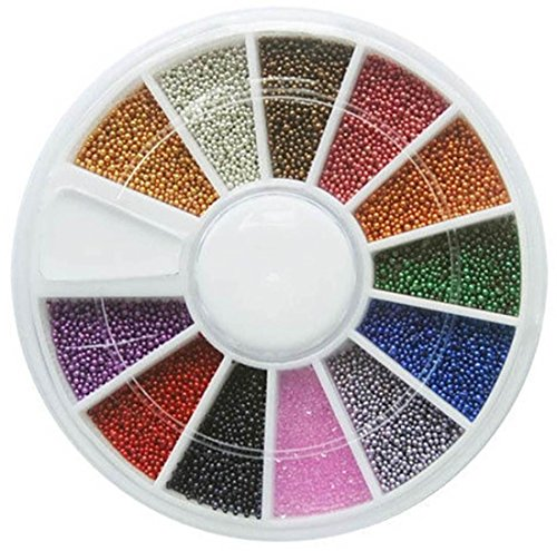 1-Set Dainty Popular 3D Acrylic Nails Art Wheel Colorful Decor Case Fashion Non-Toxic Color Style Colorful Steel - With Glasses Diamonds Cartier