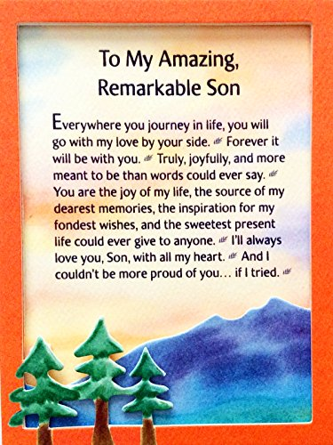 - Miniature Easel Print with Magnet: To My Amazing, Remarkable Son, 3.6