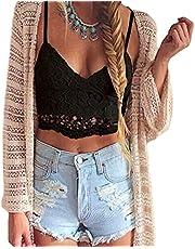 Romacci Women's Crochet Tank Camisole Lace Vest Blouse Bralette Bra Crop Top
