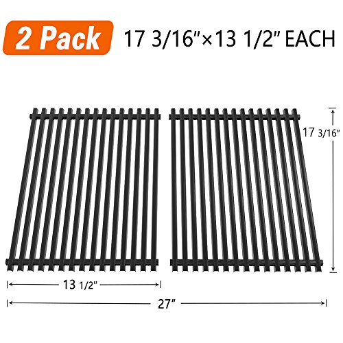SHINESTAR Grill Grate 17 3/16'' Replacement Parts for Nexgrill 720-0697E, Grill Master 720-0697, Uniflame GBC091W, Tera Gear, Porcelain Enameled Steel Cooking Grids (17 3/16'' x 13 1/2'' Each, 2 Pack) by SHINESTAR