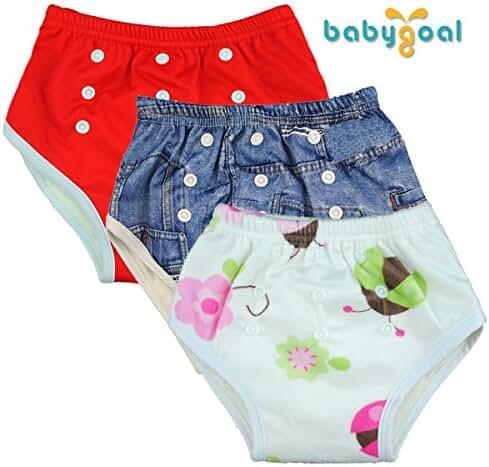 Babygoal Reuseable Adjustable Washable Waterproof Baby Training Pants 3 Pack 3fx07