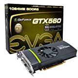 EVGA GeForce GTX 560 Superclocked 1024 MB GDDR5 PCI Express 2.0 2DVI/Mini-HDMI SLI Ready Graphics Card, 01G-P3-1463-KR