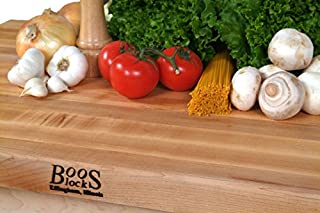 "product image for John Boos Hard Rock Maple Butcher Block Counter Tops, 48"" W x 25"" D x 1-1/2"" H, Oil Finish"