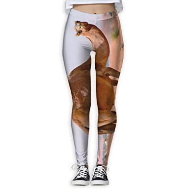 71834ebc00ccfc Amazon.com: Yoga Leggings Camel Desert Women's Full-Length Workout Thin  Capris Pants: Clothing
