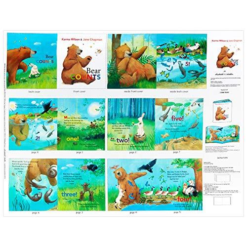 Used, Elizabeth's Studio Bear Counts 36'' Book Panel Multi for sale  Delivered anywhere in USA