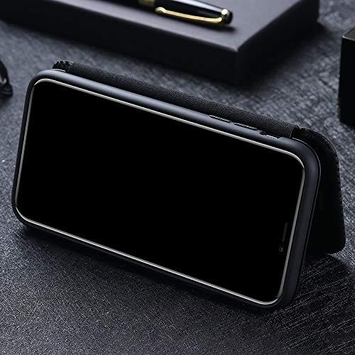 COWEN per Samsung Galaxy S20 Fe 5G Flip Cover,Trama in Fibra di Carbonio Rilievo Cover con Slot per Schede,Stand,Magnetica Custodia per Samsung Galaxy S20 Fe 5G-Blu