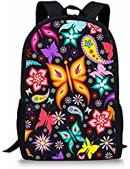 Coloranimal Fashion Children Animal Backpack Primary Kids School Bags Butterfly Bookbags