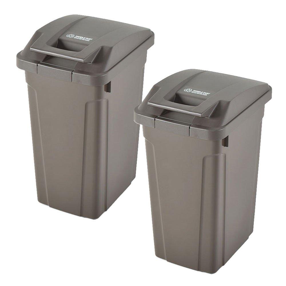 ASVEL SP ハンドル付ダストボックス 35L 2個セット ゴミ箱 ごみ箱 ダストボックス おしゃれ ふた付き アスベル (ブラウン×ブラウン) B0747HRHZS ブラウン×ブラウン ブラウン×ブラウン