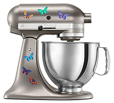 Kitchen Aid Mixer Beautiful Butterfly Artistic Full Color Post Impressionist Painted Style Decal Pack