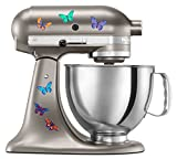 : Kitchen Aid Mixer Beautiful Butterfly Artistic Full Color Post Impressionist Painted Style Decal Pack