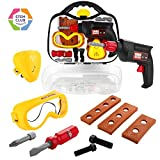 #3: Toy Choi's Baby Kids Tool Set, STEM Pretend Play Construction Tools Toy Set in Sturdy Case