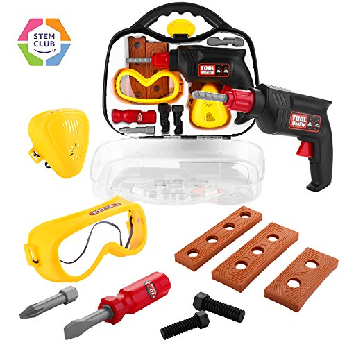 Kids Pretend Play Tool Set with Case Only $6.99