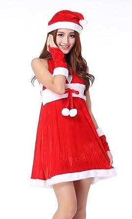 Drasawee Sexy de Las Mujeres niñas Traje de Cosplay de Papá Noel ...