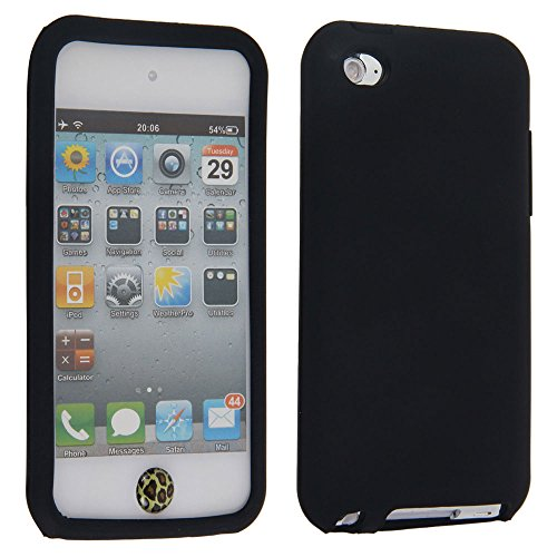 Soft Gel Silicone Skin Case Cover for Apple iPod Touch 4G, 4th Generation (Black)