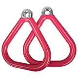 Swing Set Stuff Inc. Commercial Triangle Trapeze Rings with Sss Logo Sticker Playground Attachment, Pink