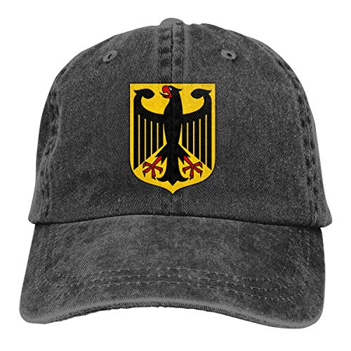 German Eagle Coat Of Arms - German Coat of Arms Eagle Baseball Cap Dad Hat Adjustable Hat Low Profile Plain Hat Black