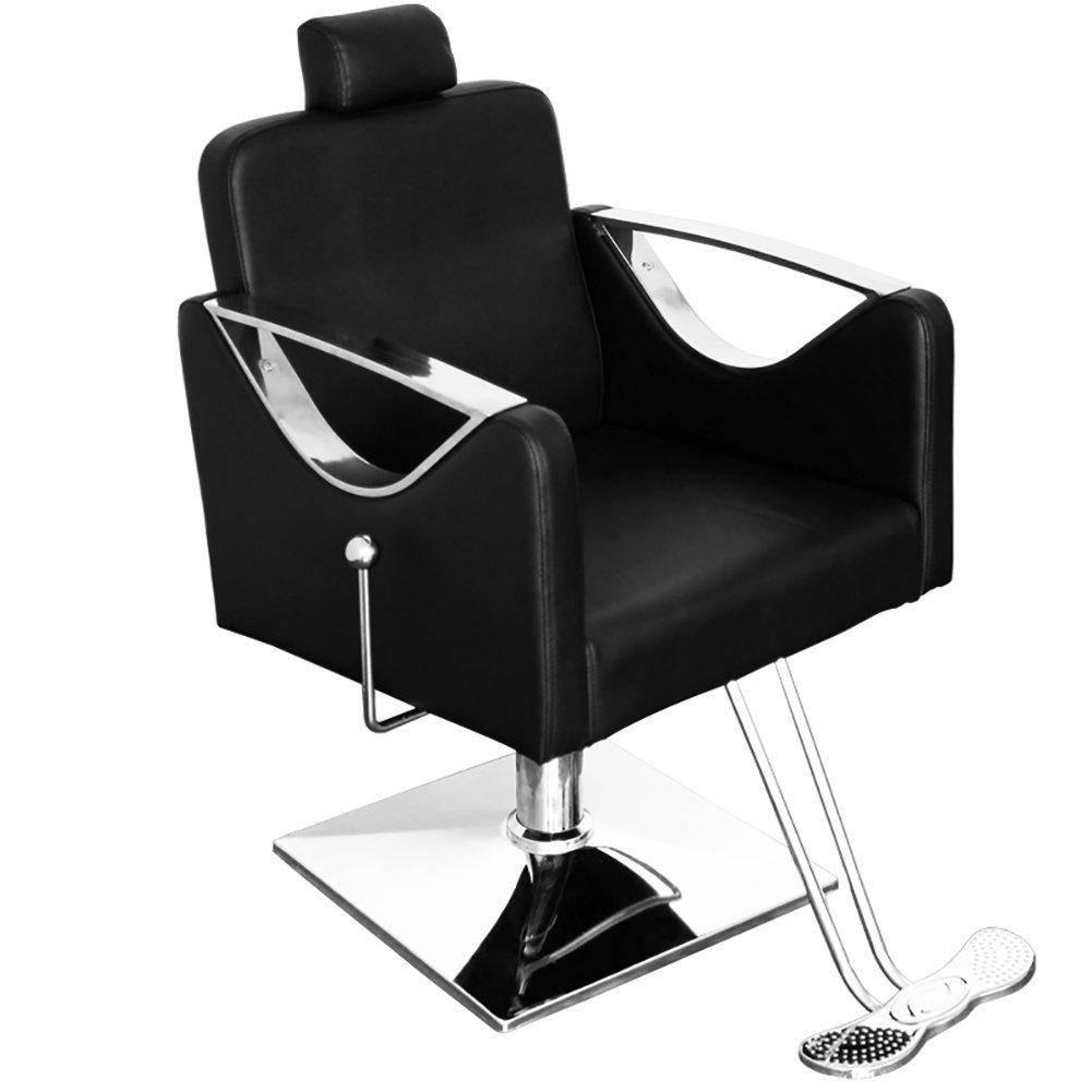 Professional salon chair, Hairdressing Hair Cut-Beauty Barber Chair portable Spa Styling black WarmieHomy