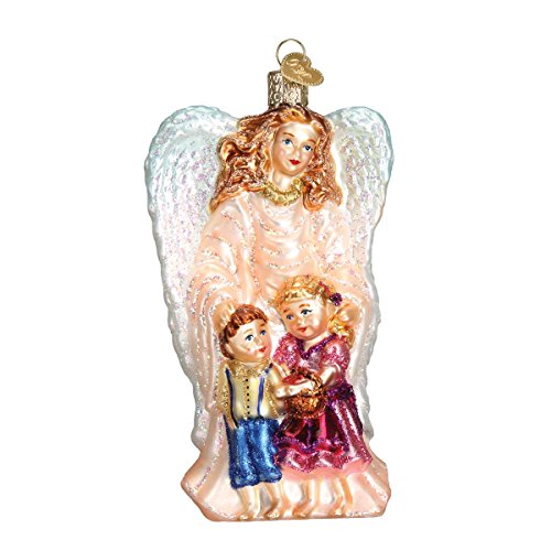 Old World Christmas Ornaments: Guardian Angel Glass Blown Ornaments for Christmas ()