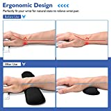VicTsing Memory Foam Set Keyboard and Mouse Wrist Rest Pad Support for Easy Typing and Wrist Pain Relief, Ergonomic Lightweight Anti-Skid Wrist Cushion for Office/Gaming/Computer/Laptop - Black