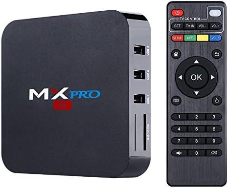 Android TV Box, Pourvie MX Pro Android 6.0 Amlogic S905X Quad Core 64bits 1gb RAM 8gb Flash Support WiFi Smart TV Box: Amazon.es: Electrónica