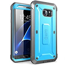 Galaxy S7 Edge Case, SUPCASE Full-body Rugged Holster Case with WITHOUT Screen Protector for Samsung Galaxy S7 Edge (2016 Release), Unicorn Beetle PRO Series - Retail Package (Blue/Black)