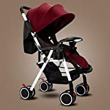 JM Baby Carriage Baby Stroller Can Sit and Fold Four Seasons Available Four Wheel Children Cart (Color : D)