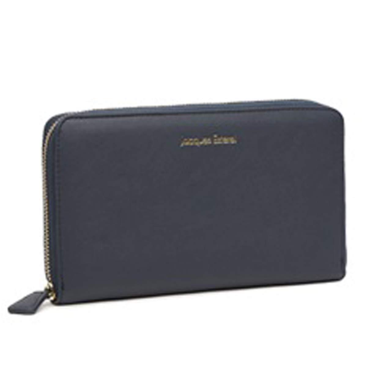 Jacques ESTEREL [Q2156]  Wallet + checkbook holder zipped 'Jacques Esterel' navy  21x10x2.5 cm (8.27''x3.94''x0.98'').