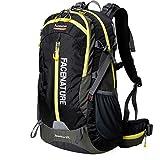 Cheap Facenature Outdoor Sports Camping Hiking Climbing Waterproof Internal Frame Backpack Lightweight Travel Daypacks 40L 50L Trekking Packs with Rain Cover (Black, 40L)