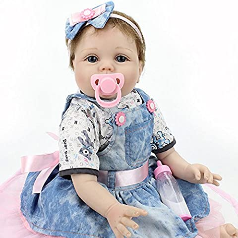 22inch Reborn Baby Doll Lifelike Handmade Girl Dolls Play House Toy (How Do I Get More Storage On M)