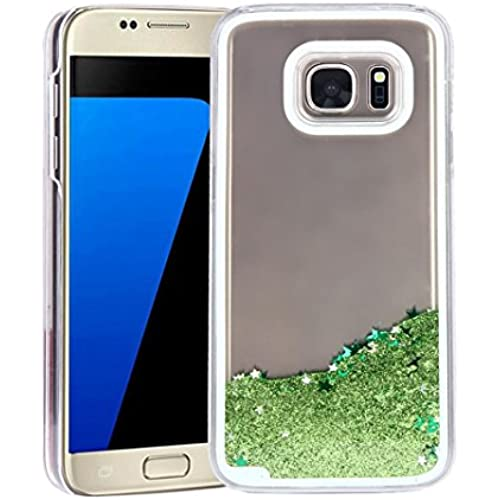 KOOZIMO Trend Glitter Star Liquid Back Phone Case Cover for Samsung galaxy S7 (Green) Sales