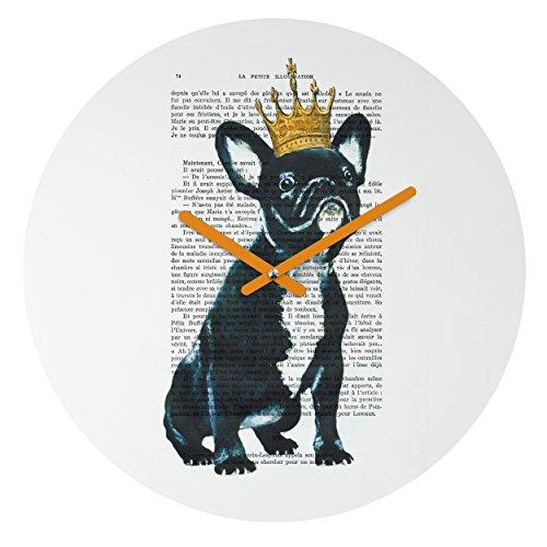 Deny Designs Coco De Paris, Bulldog King , Round Clock, Round, (Bulldogs Round Clock)