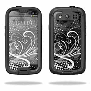 Protective Vinyl Skin Decal Cover for LifeProof Samsung Galaxy S III S3 Case fre Sticker Skins Black Flourish