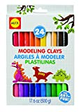 ALEX Toys Artist Studio 24 Modeling Clays contains superbright colors of soft modeling clay so young artists can create colorful threedimensional models. The soft clay is easy for little hands to shape and moldand will never dry out, harden, shrink o...