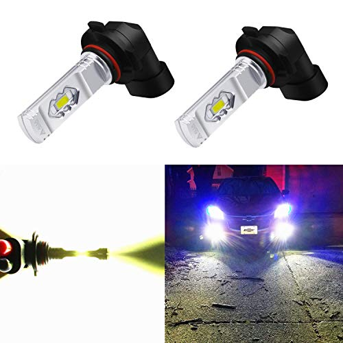 (Alla Lighting 3800lm Xtreme Super Bright 9006 LED Bulbs Fog Light High Illumination ETI 56-SMD LED 9006 Bulb HB4 9006 Fog Lights Lamp Replacement - 6000K Xenon White)