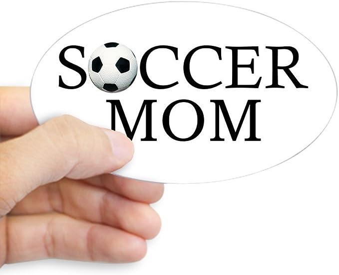 Soccer Mom Euro Oval Bumper Sticker