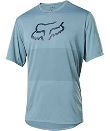 Fox Racing - Camiseta de manga corta para hombre - Fox Racing, S, Foxhead Azul Claro: Amazon.es: Ropa y accesorios
