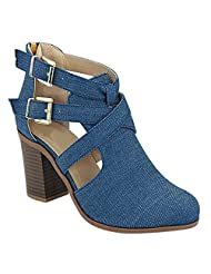 Women's Western Chunky Heel Ankle Western Boot Trends SNJ Shoes