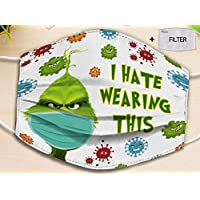 I Hate Wearing This Christmas Resting Face facecover - can be washed comfortable Dust Filter Cotton Face Cover, Face Cover Replaceable Filter Cover, PM 2.5 Dustproof Breathable Cover