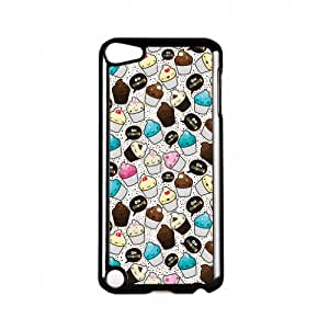 Oh Crumbs Cupcakes Black Hard Plastic Case Snap-On Protective Back Cover for Apple? iPod Touch 5th Gen by Tom Pearson + FREE Crystal Clear Screen Protector