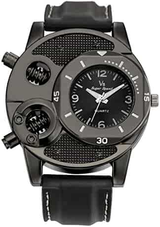 Nadition Mens Quartz Watches Clearance Unique Analog Cheap Watches On Sale Leather Wrist Watches