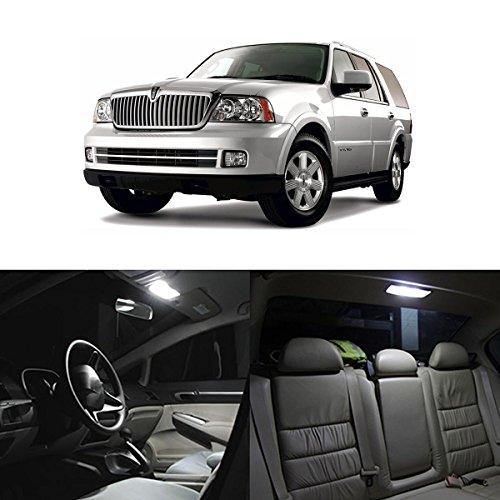Partsam 14x 2003-2006 Lincoln Navigator White LED Package Interior + License