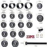 ์Nice1159 23 pcs Front Wheel Bearing Press Kit Removal Adapter Puller Pulley Tool Kit New - Excellent stability, Durable