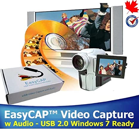 EasyCAP™ Video Capture Device w Audio USB 2 0 Video Adapter Interface  Capture High Quality Video & Audio Files Professional Video Editing  Software