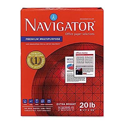 Navigator Premium Copy/Laser/Inkjet Paper, 97 Brightness, 20 lb, Letter Size (8.5 x 11), 5000 Sheets per Carton (NMP1120)