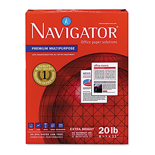 Navigator NMP1120 Premium Multipurpose Paper, 97 Brightness, 20lb, 8-1/2x11, White (Case of 5000 Sheets)