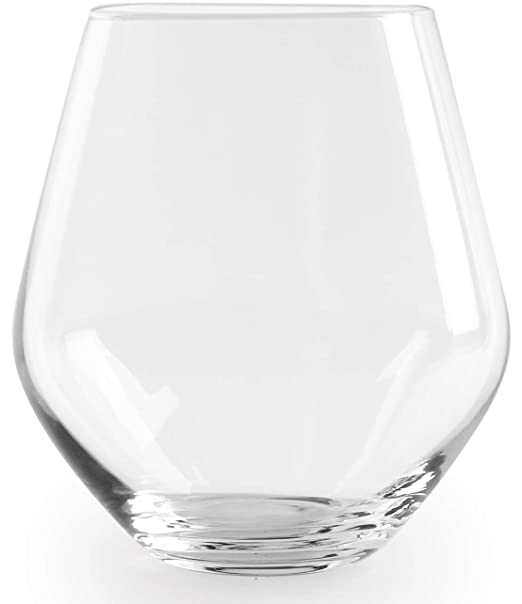 Downtown Stemless Wine Glasses Clear 12 oz Set of 4