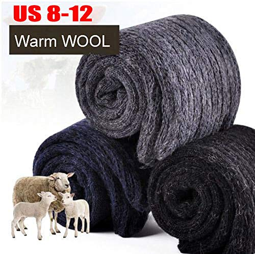 4 Pack Mens Wool Cashmere Thick Warm & Comfortable Winter Socks Size 8-13 (us 8-13, 4 different colors)