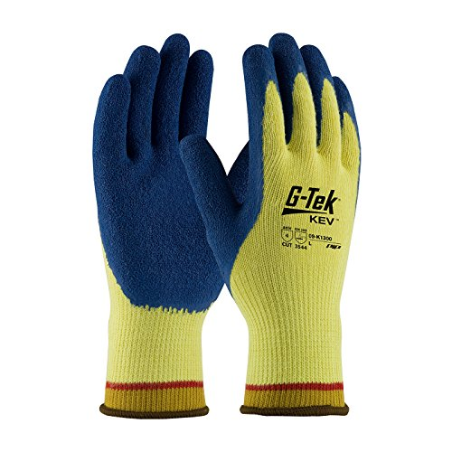 G-Tek K-Force 09-K1300/XL Seamless Knit Kevlar Glove with Latex Coated Crinkle Grip on Palm and Fingers, X-Large - Case of 12 Pairs